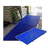 LIANGJUN-Palés Pallet plástico, Red Racks De Almacenamiento Impermeable, Ligero Portátil Paleta, Interior Exterior Depósito, Fácil De Apilar (Color : Blue-10pcs, Size : 60x35x3cm)
