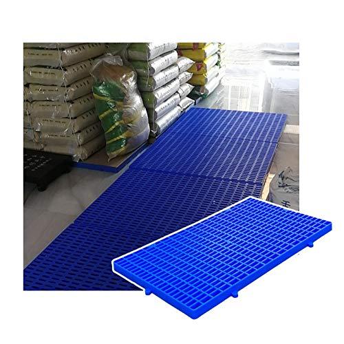 LIANGJUN-Palés Pallet plástico, Red Racks De Almacenamiento Impermeable, Ligero Portátil Paleta, Interior Exterior Depósito, Fácil De Apilar (Color : Blue-2pcs, Size : 60x35x3cm)