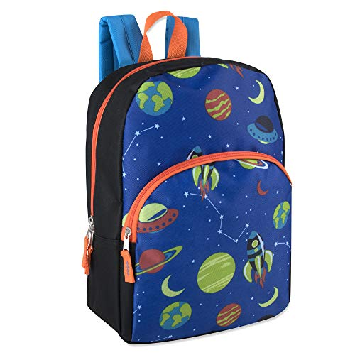 15 Inch Backpack for Boys Girls, Kids Backpacks for Preschool, Kindergarten, Elementary with Adjustable Padded Straps