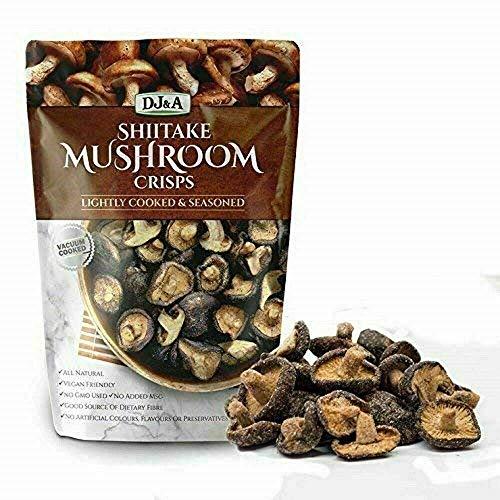 Shiitake Mushroom Crisps - Lightly Cooked and...