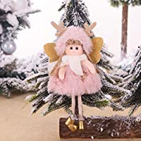3ピースクリスマス人形吊り天使、かわいいタグぬいぐるみクリスマスツリードア壁掛け装飾家の装飾用ホリデーパーティーガーデン装飾 C