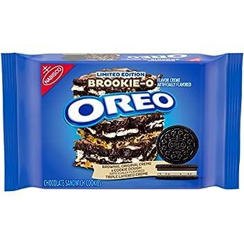 Oreo BrookieO Brownie Original Cookie Dough Crème Sandwich Cookies Limited edition 13.2 oz Chocolate 1 Count