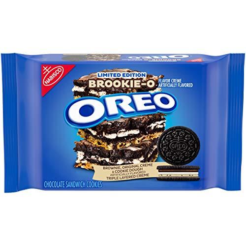 Oreo, BrookieO Brownie Original Cookie Dough Crème Sandwich Cookies Limited Edition 374g