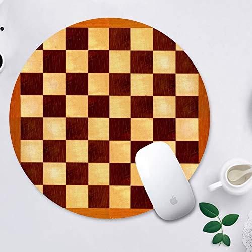 Cojín de ratón del juego de ajedrez tablero de ajedrez de la Ronda Mousepad alfombrillas de ratón para ordenadores portátiles antideslizante de Goma juego alfombrilla Ratón 200*200*3 mm, Ajedrez
