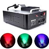 UKing RGB Humo con Discoteca 1500 W Mini Máquinas de Humo,DMX Control Remoto con Portátil Máquina CO2 Máquina Niebla para fiestas Club Halloween boda Theater