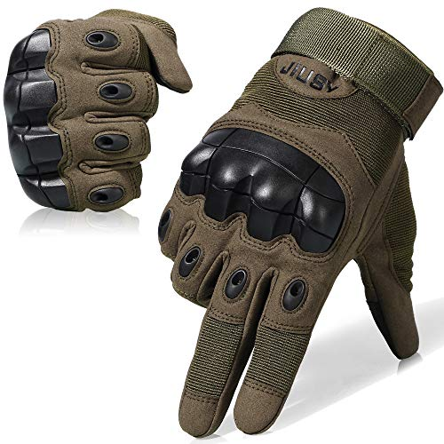 WTACTFUL Touch Screen Military Tactical Gloves Full Finger Airsoft Paintball Outdoor Army Gear Sports Cycling Motorcycle Motorbike Riding Shooting Hunting Work Men Women Size Medium Green