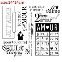 フランス語の単語形式透明シリコーンゴムスタンプシートしがみつくスクラップブッキングDIYかわいいパターンフォトアルバムスタンプ