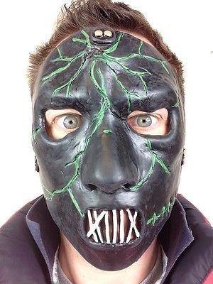 Rubber Johnnies Slipknot Style Paul Gris Masque en Latex de tête de fantôme Effrayant Heavy Metal Monster pour soirée déguisée