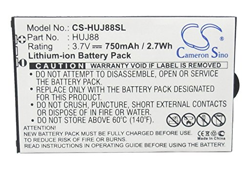 CS-HUJ88SL Akku 750mAh Kompatibel mit [Huawei] Cricket J88B, EZ Cricket J88 Ersetzt