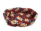 Ducomi Fufy 2 – Cama para perros y gatos de Oxford – Suave caseta para mascotas – Fácil de lavar (S, M-06)