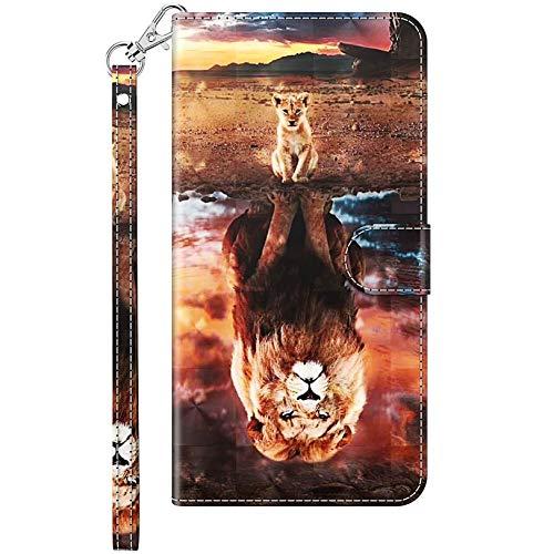 Vepbk Funda para iPhone 12 / iPhone 12 Pro (6,1), funda para teléfono móvil, funda de piel con billetera, billetera, multicolor, con tarjetero, cierre magnético, funda para móvil, diseño 1