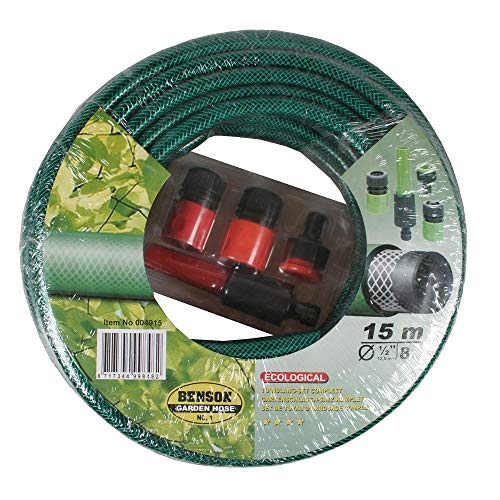 15m Gartenschlauch, Wasserschlauch, Gartenbewässerung, Komplettset inkl. Adapter, Schlauchstück und Spritzer