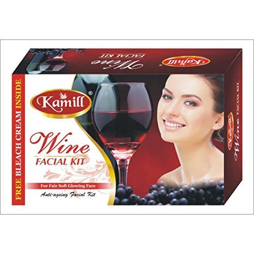 Kamil Skin Care Women Beauty Secret Wine Facial Kit (310 g), Advanced Organics Skin Whitening Moisture, Fast Glowing Solution/Brightening/Cleanse & Hydrate Skin/All Sin Types