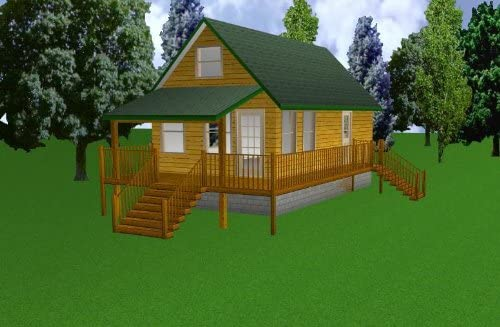 16x30 Cabin w Loft Plans List Package All items free shipping Material Blueprints Inventory cleanup selling sale