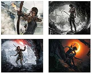 Shadow of Tomb Raider - Set of Four (8x10) Rise of Lara Croft - Video Game Wall Art Decor
