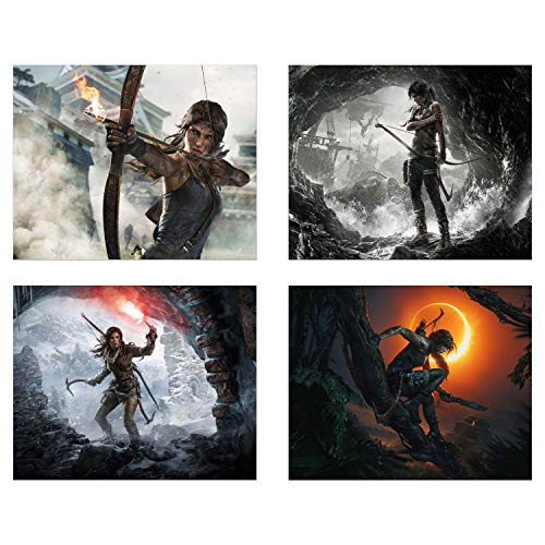 Shadow of Tomb Raider - Set of Four (8x10) Rise of Lara Croft - Video Game Wall Art Decor