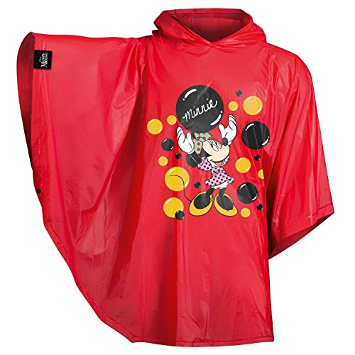 baagl Chubasquero infantil con capucha y elementos reflectantes. Chubasquero para niños y niñas., Minnie, talla única