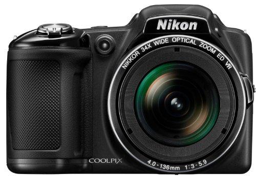 """Nikon Coolpix L830 Appareil photo numérique compact 16,8 Mpix Ecran 3"""" Zoom optique 34x Noir"""