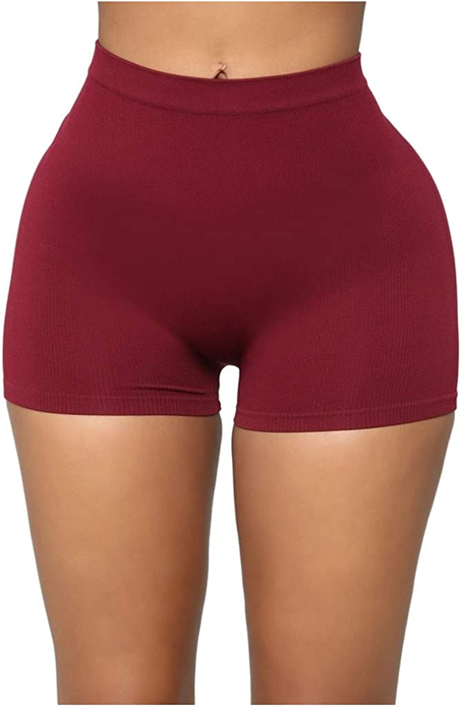Yoga Shorts for Women High Waisted Hessimy Workout Running 4 Way Stretch Athletic Non See-Through Yoga Shorts