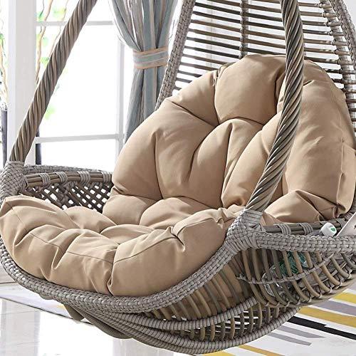 Hanging Egg hangstoel kussen, rieten rotan schommelstoel kussen, dikke ronde schommelstoel kussen kussen, anti-slip verwijderbaar geen stoel grijs