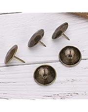 Bronzen meubelspijker, antieke spijker, 25 x 22 mm voor houten kisten voor banken