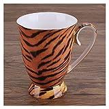 Tazza di tè 300ml moda in ceramica tazza di caffè con manico in porcellana naturale latte colazione tazza di tè tazza di caffè tazza di acqua bottiglia d'acqua (Capacity : 300ML, Color : Tiger)