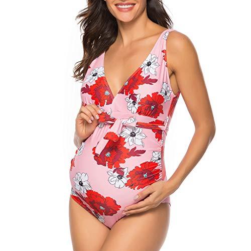 Hot !!Schwangerschafts Badeanzug Blume Drucken Wrap Front Badeanzug Umstands-Tankini Damen Reizvoller Umstands Badeanzug Einteiler Bademode Bikini Frauen Cosy Sexy Strand Badeanzug TWBB