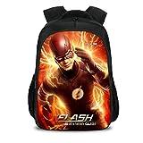 JKAINI Mochilas para Niños The Flash Printed Student Backpack,G-OneSize