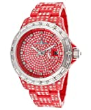 ToyWatch Women's Crystal Pave Red Resin