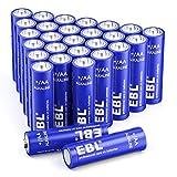 Piles AA Alcalines Domestiques et Industrielles 1,5V EBL Lot de 28pcs- Piles LR6 1,5 Volts avec Longue Durée de Conversation