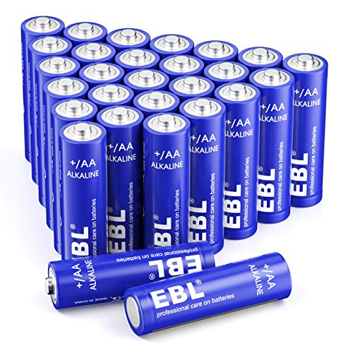 EBL AA Batterien, AA Alkaline Batterien, AA Mignon Batterien LR6,28er Pack