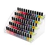 Waroomss Support de vernis à ongles, organisateur de vernis à ongles acrylique...