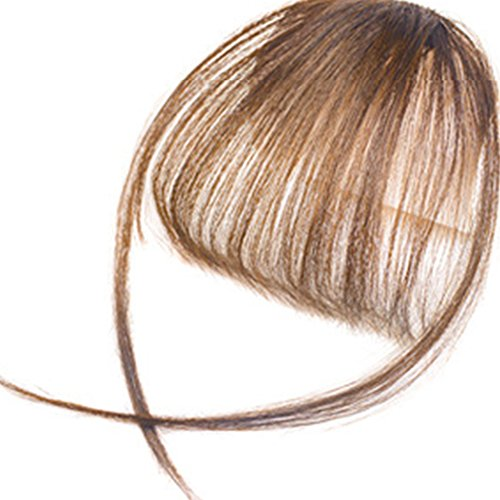 Makeup Hair Extensions für Frauen Mädchen Damen, Clip In Pony Fringe Fake Hair Extensions, gerade Front Neat Hair Pony