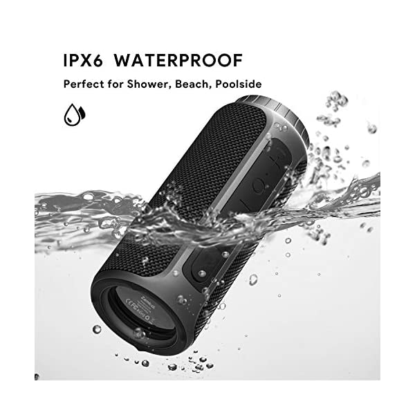 Bluetooth Speaker 30W Waterproof Bluetooth Speakers Portable Wireless Loud Stereo Sound & Enhanced X-Bass Speaker Bluetooth 5.0, Built-in Mic, IPX6 for Home Party, Shower, Outdoor, Travel 4