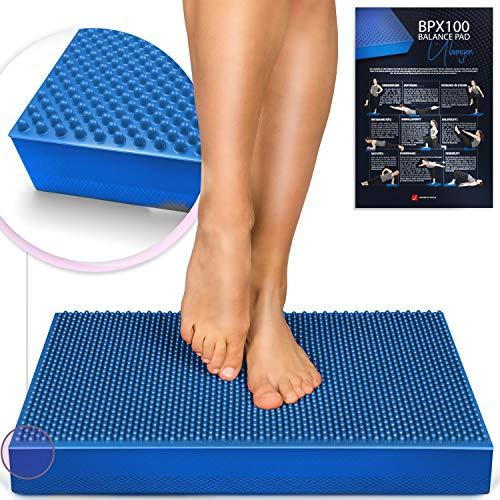 MesseNeuheit 2020! 2in1 Balance Pad + Akupressur Noppen, XXL Balancekissen für Ihr Gleichgewicht & Förderung der Durchblutung. Rehabilitation,Physio & exzellentes Training! BPX100 - inkl. Übungsposter