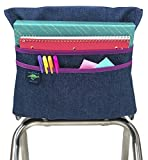 Aussie Pouch Chair Pocket with Double Pocket Design, Extra Large, 19 Inches, Purple Trim
