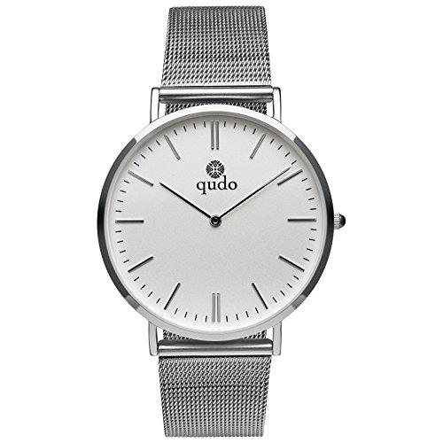 Qudo Eterno Damenuhr Silber/weiß 801035
