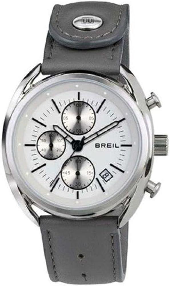 Breil orologio cronografo uomo con cassa in acciaio inossidabile e cinturino in vera pelle TW1526