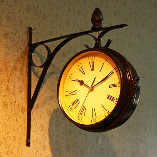Anclok Dubbele-dial Daily Wall hanglamp Hanging Alarm Clock Timer klok klok rekenmachine Retro Crafts Decoratie voor thuis