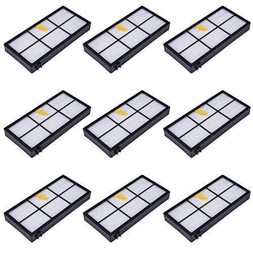 MIRTUX Pack 9 filtros compatibles con Roomba 800 y...
