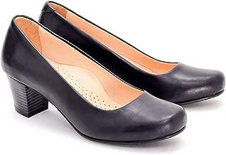 Black Flight Attendant Crew% 100 Leather Comfort Shoes