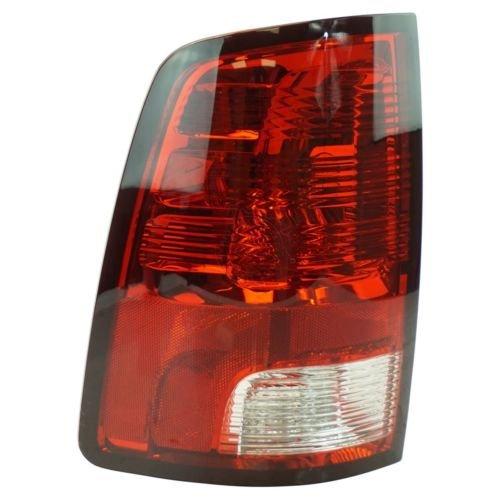 DAT 09–13RAM 1500Pickup o 10–132500y 3500Izquierda Conductor TailLamp Piloto Trasero Rojo Claro Lente de Copia de Seguridad de Freno con Bombillas LED de Bombillas (no) ch2818124