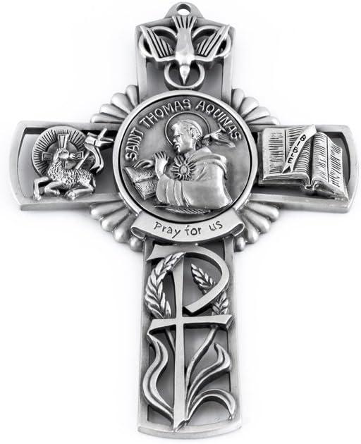 Pewter Oakland Mall Catholic Saint St Fashionable Thomas Aquinas for Cross Us Pray Wall