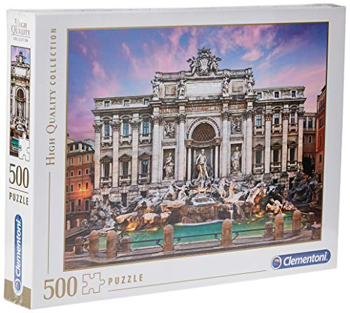 Clementoni- High Quality: Trevi Fountain Puzzle, 500 Piezas, Multicolor, pezzi (35047)
