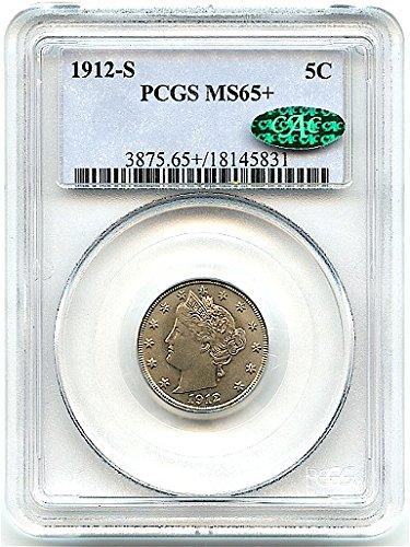1912 S Liberty Head Nickel MS-65+ PCGS/CAC