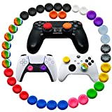 36pcs Joystick Grip for Ps5 Ps4 Controller, Silicone Thumb Grips Caps Cover Analog Stick for Playstation 5, Playstation 4 Controller, Xbox 360, Xbox One Controller (A)