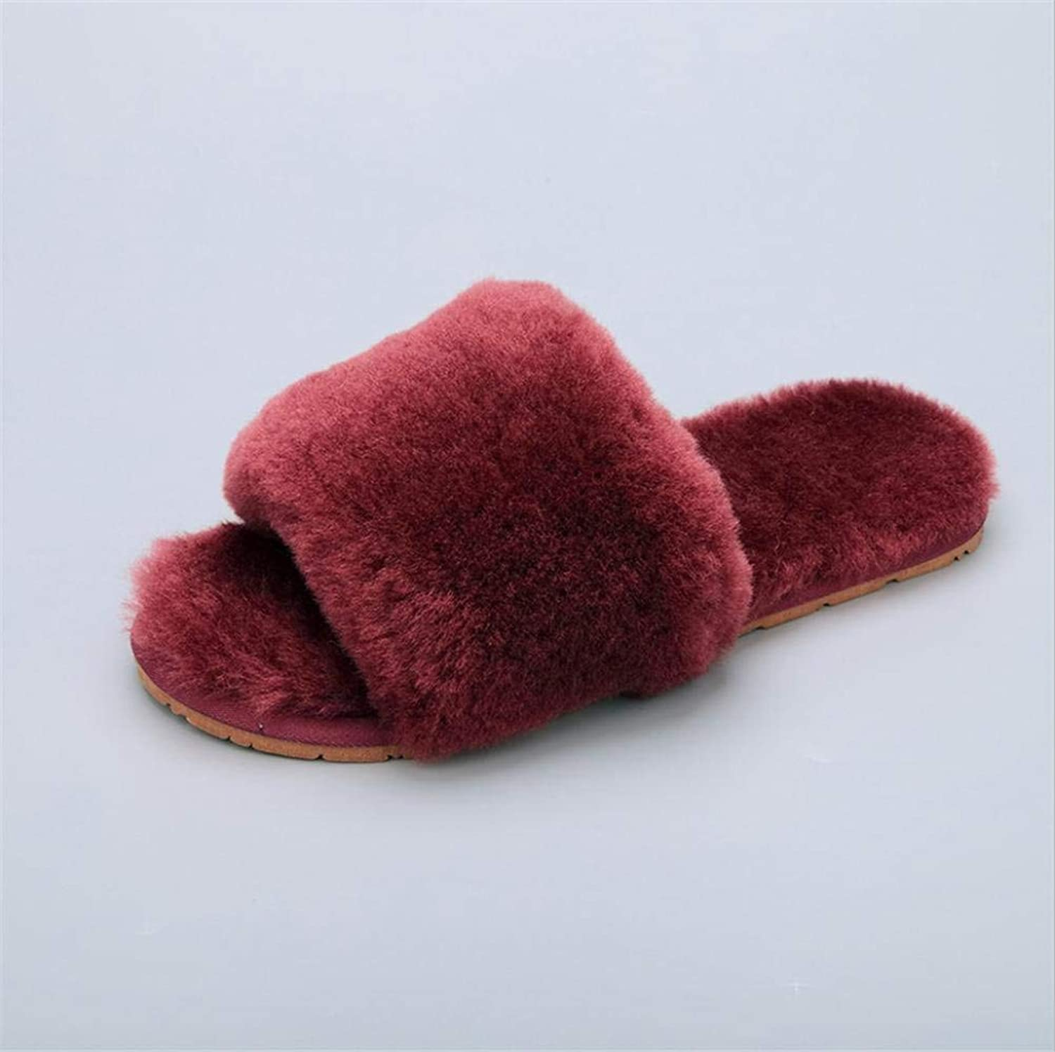 GouuoHi Womens Slippers Ladies Casual Stylish Slipper Indoor and Outdoor Home Keep Warm in Fall and Winter Fur Solid color Fluffy Super Soft Plush Slippers