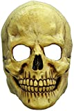 Totenkopf Maske des Grauens aus Latex - Erwachsenen Horror Kostüm Vollmaske Schädel Skelett - ideal für Halloween, Karneval, Motto- & Grusel-Party