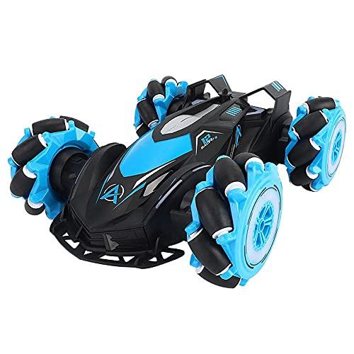 Nsddm 360 ° Spin Drift Stunt RC Car, 2.4G Vehículo de Control Remoto, 4WD Camión de Escalada de rastreo Fuera de Carretera, Regalo de Juguete para niños y niñas Demo de un Solo Clic/Luces/Efectos