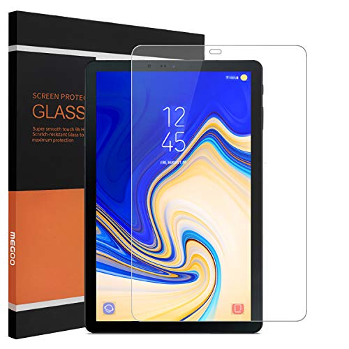 MEGOO Tempered Glass Screen Protector Compatible with Samsung Galaxy Tab S4(10.5 Inch),Ultra-Thin 9H Hardness HD Clear& Premium Screen Protector for SM-T835 Tablet